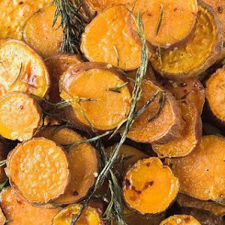 Rosemary Roasted Sweet Potatoes with Honey Butter