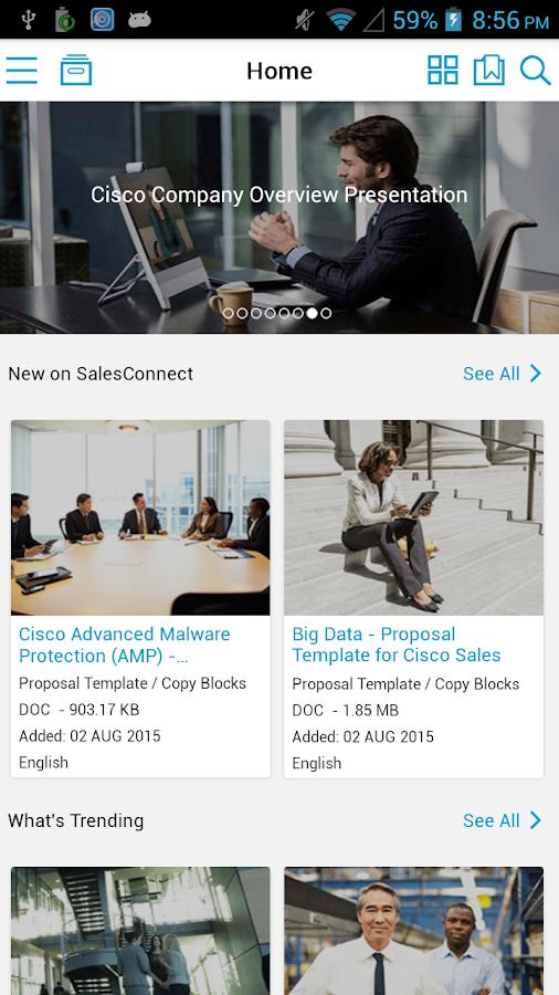Cisco SalesConnect- screenshot