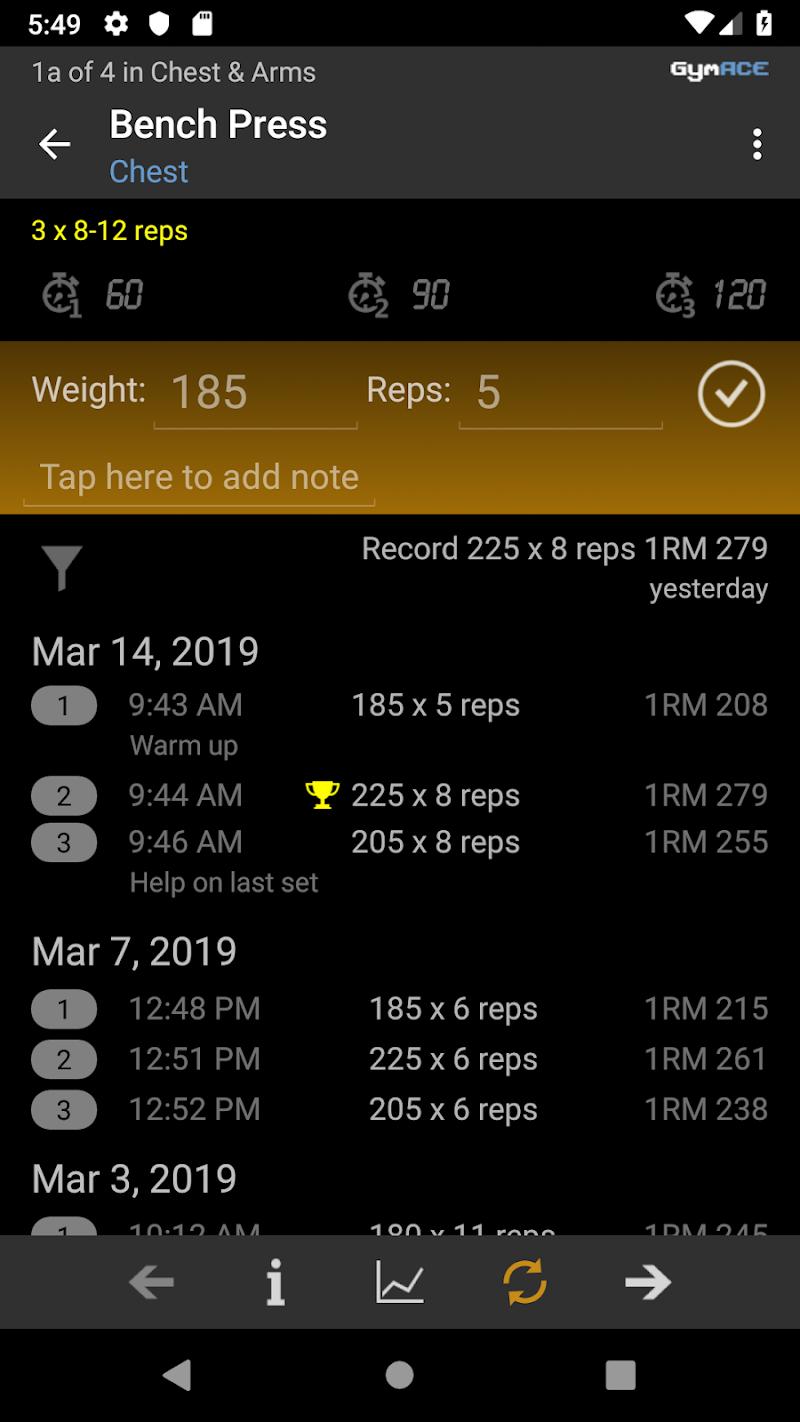 GymACE Pro: Workout Tracker & Body Log Screenshot 3