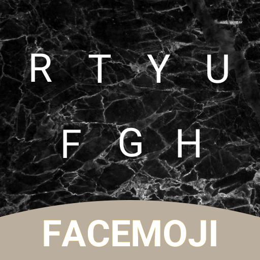 Black Marble Emoji Keyboard Theme for Instagram