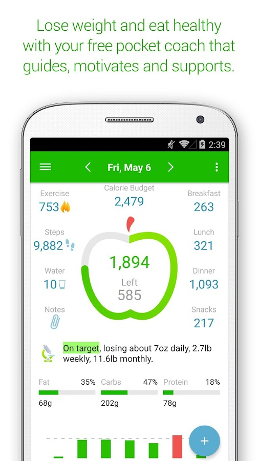 Calorie Counter PRO MyNetDiary- screenshot