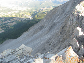 Photo: Frank Slide from peak of Turtle Mountain