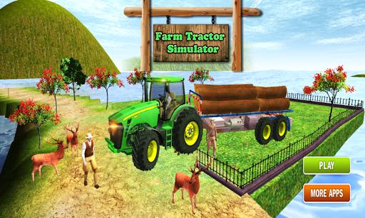 農用拖拉機原木運輸