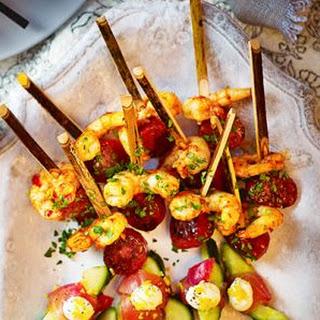 Chorizo & Prawn Skewers
