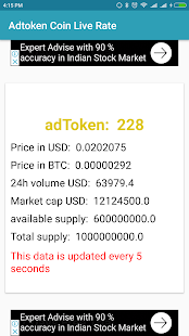 AdToken Coin Live Rate - náhled