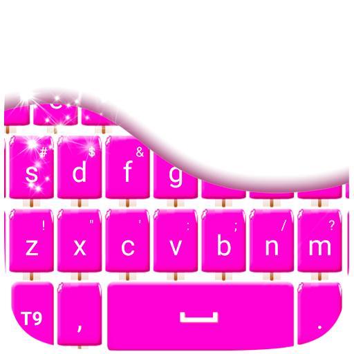 粉红冰淇淋键盘 個人化 App LOGO-硬是要APP