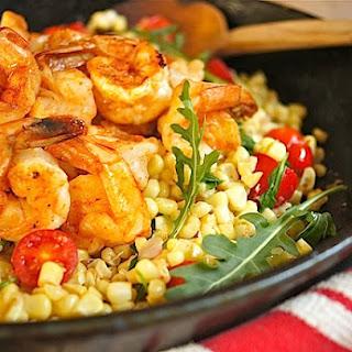 Paprika-Spiced Shrimp with Warm Corn Salad