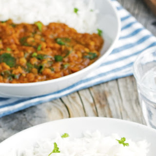 (Vegan) Red Lentil and Spinach Tikka Masala.
