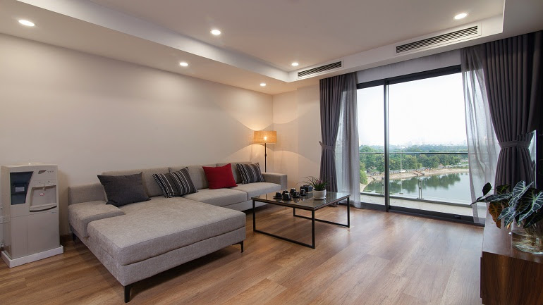 Elegant 2 – bedroom apartment with lakeview in Ho Ba Mau street, Dong Da district for rent