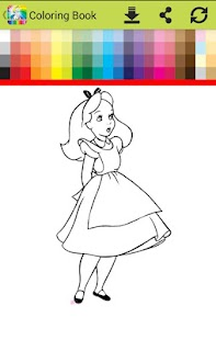 coloring  Alice on Wonderlandd go - náhled