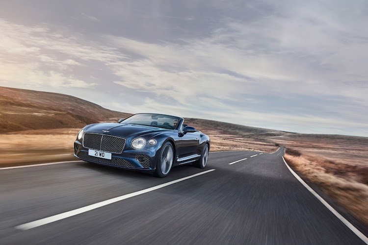 The GT Speed is the most driver-focused convertible of the Continental GT range, with innovative suspension tricks. Picture: SUPPLIED