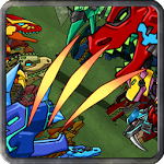 Dino Robot Battle Field Icon