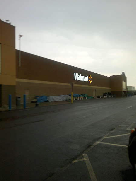 Photo: I arrived at Walmart with the rain coming down.