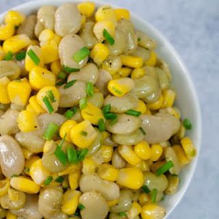 Lima Bean and Roasted Corn Succotash.