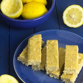 Pucker Up Lemon Coconut Protein Bars Recipe