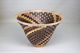 "Photo: Bob Grudberg 11"" x 8"" open segmented bowl [walnut, maple, others]"