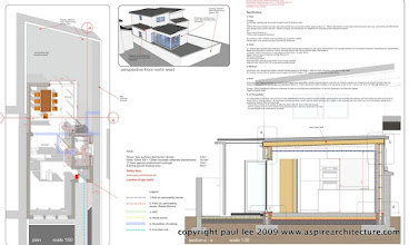 Photo: Architectural section, plan and perspective: Extension to dwelling in Togher, Cork City, Ireland. The project was carried out entirely in SketchUp Pro/ LayOut