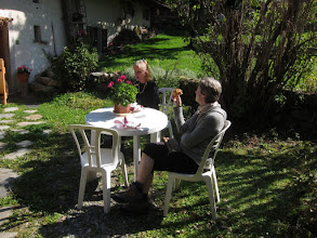 Photo: Breakfast in the garden the next morning ...