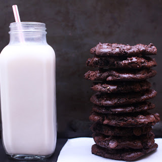 Best Gluten Free Vegan Double Chocolate Chip Cookies.