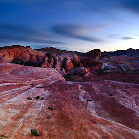 Valley Of Filre by Bharath Booshan - Landscapes Caves & Formations ( sunset, red rock, long exposure )