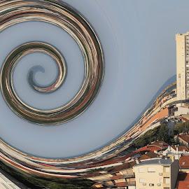 Abstract Tresnjevka by Bozica Trnka - Digital Art Places ( digital, croatia, tresnjevka, town, zagreb, abstract )