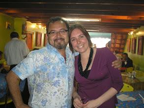 Photo: dia 3.10: no restaurante mais charmoso da cidade, El Generalito, com o Juan Carlos Bautista, amigo do querido Fréssia