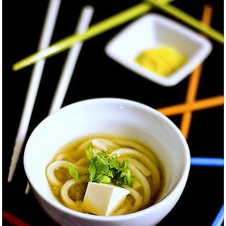 Japanese Udon - Tofu Soup Recipe