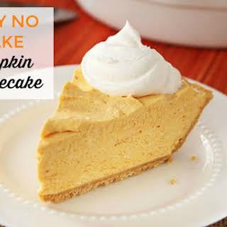 Easy No Bake Pumpkin Cheesecake.