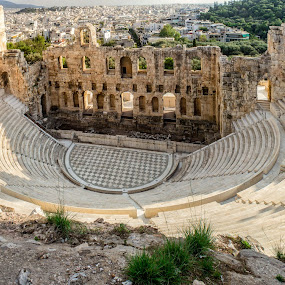 by William Stansbury - Buildings & Architecture Decaying & Abandoned ( acropilis, greece, ancient architecture, ampitheater, athens )