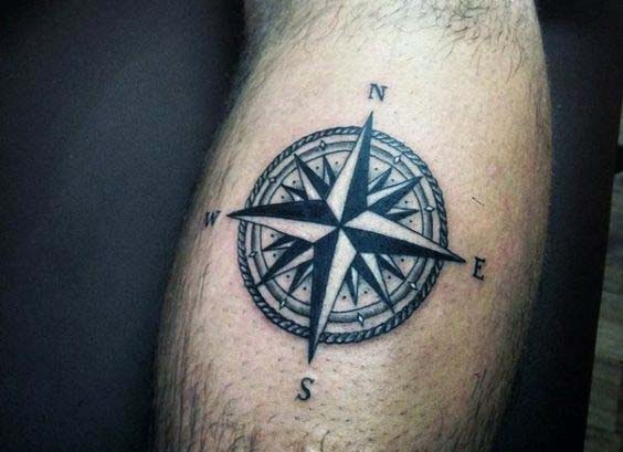 Simple and small nautical star tattoo design