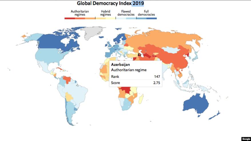Việt Nam xếp hạng 136/167 về Chỉ số Dân chủ 2019