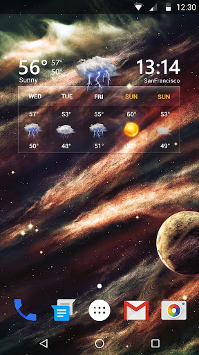 Transparent Live Weather Widge  screenshots 1