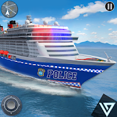 US Police Car Transport: Cruise Ship Driving Game