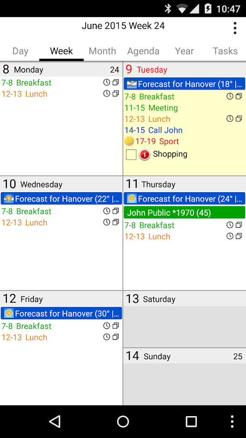 CalenGoo - Calendar and Tasks- screenshot