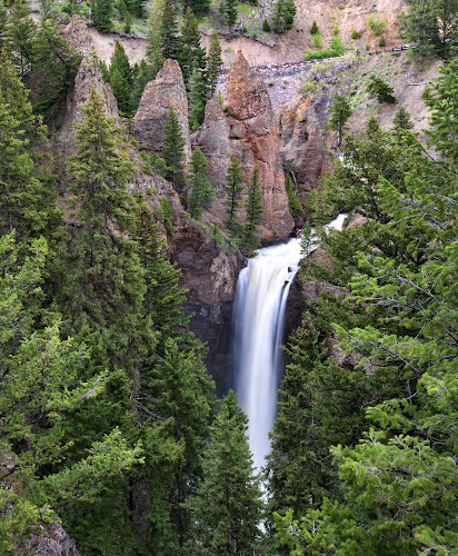 Waterfall  by Phyllis Plotkin - Landscapes Waterscapes ( rock formations, nature, waterscape, waterfall, trees, landscape )