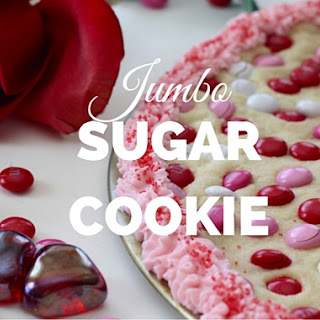 Jumbo Sugar Cookie for Valentine's Day