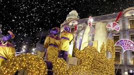 Detalle de una cabalgata de Reyes en Almería