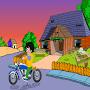 Cute Boy Motorcycle Escape