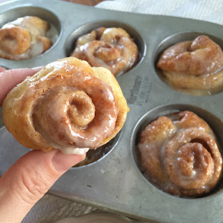 Mini Cinnamon Rolls Using Crescent Rolls.