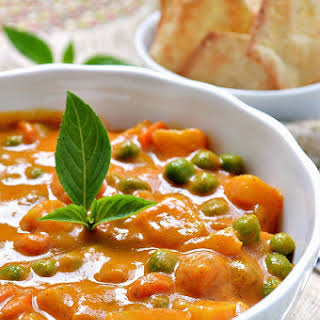 Roasted Red Pepper Coconut Curry.