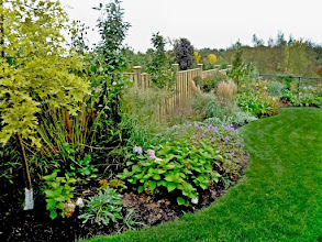 Photo: Smooth curves and lots of texture make a garden visually appealing.
