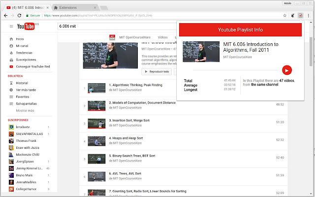 Youtube Playlist Info