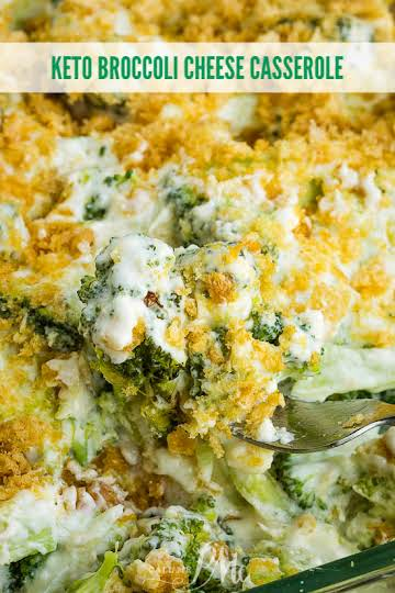 Keto Broccoli Cheese Casserole