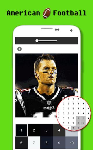 American Football Player Color By Number - Pixel apktram screenshots 1