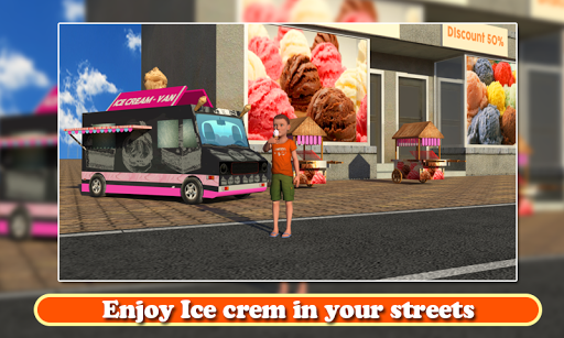 Ice Cream Delivery Van 3d