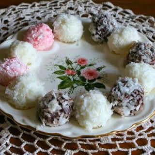 Coconut Cream Cheese Truffles.