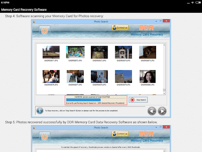Memory Card Recovery Software Help Screenshot