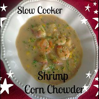 Slow Cooker Shrimp Corn Chowder.