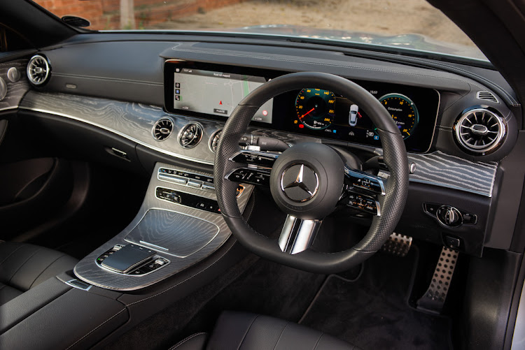 The cabin of the Mercedes-Benz E200 Coupé is packed with cutting-edge tech.