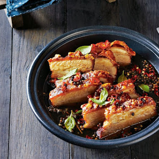 Roast Pork Belly With Black Pepper Caramel
